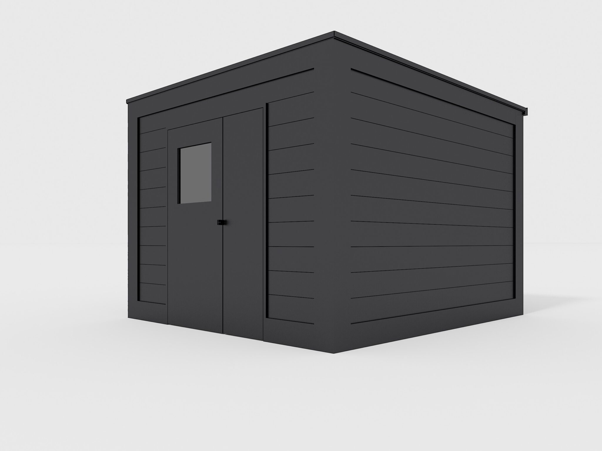 Cubic shed